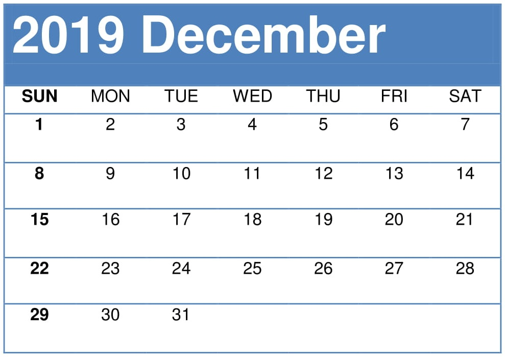 image relating to Printable Calendar December Pdf referred to as Blank Calendar December 2019 Template with Notes - Totally free