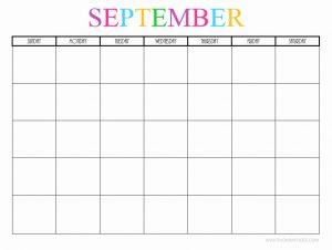 Editable September 2019 Calendar