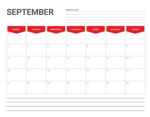 Editable September 2019 Planner