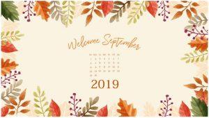 Floral September 2019 Desktop Background