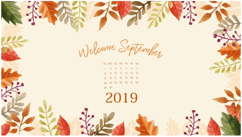 Floral September 2019 Desktop Background
