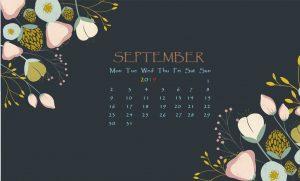 September 2019 Calendar For Desktop