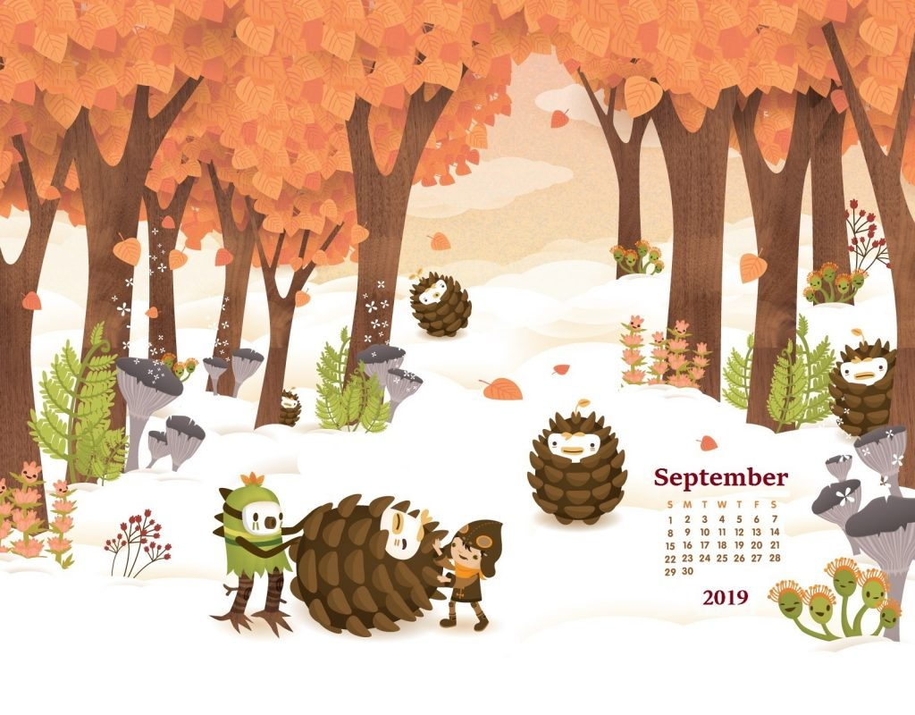 September 2019 Desktop Background Calendar