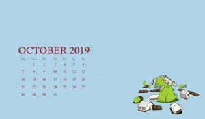 Desktop Calendar Wallpaper For October 2019