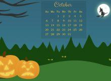 October 2019 Desktop Screensaver Wallpaper