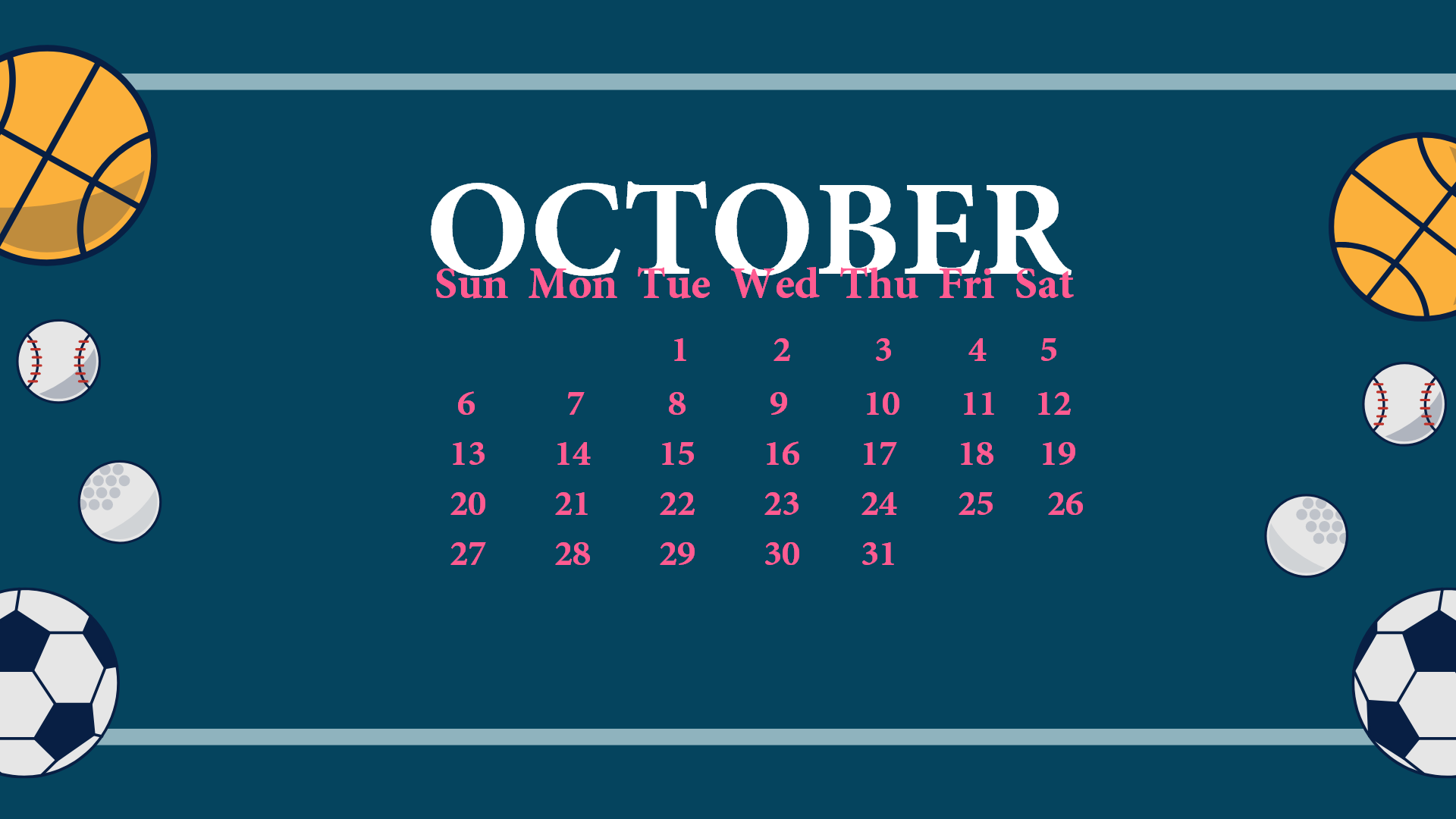October 2019 Desktop Wallpaper With Calendar