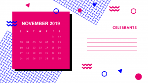 Cute November 2019 Calendar Template with Notes