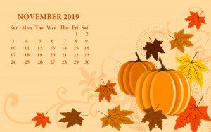 November 2019 Calendar Wallpaper