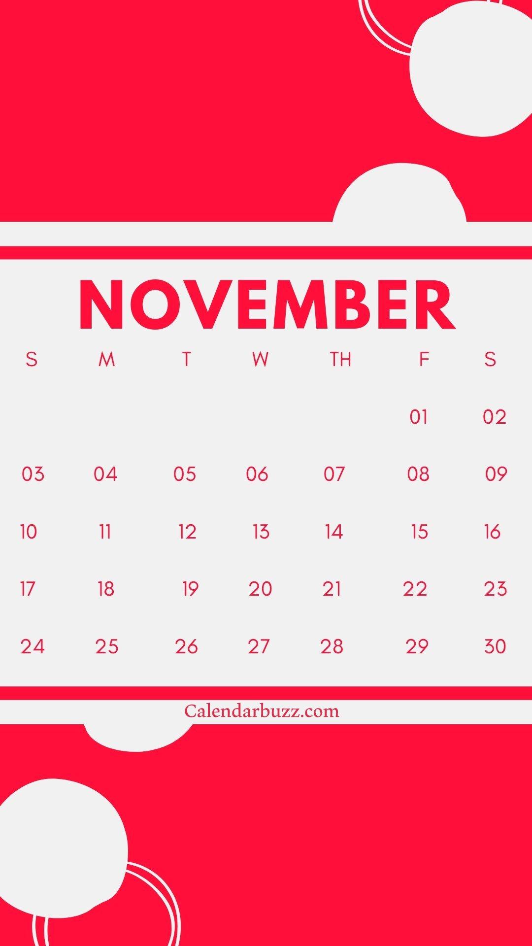 November 2019 iPhone Calendar Wallpaper