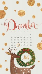 December 2019 iPhone Calendar Wallpaper
