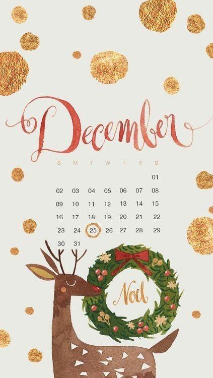 December 2019 iPhone Calendar Wallpaper
