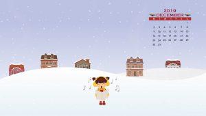 Winter December 2019 Calendar Wallpaper