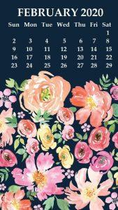 iPhone February 2020 Calendar Wallpaper