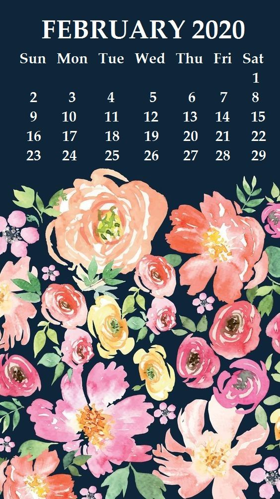 iPhone February 2020 Calendar Wallpaper