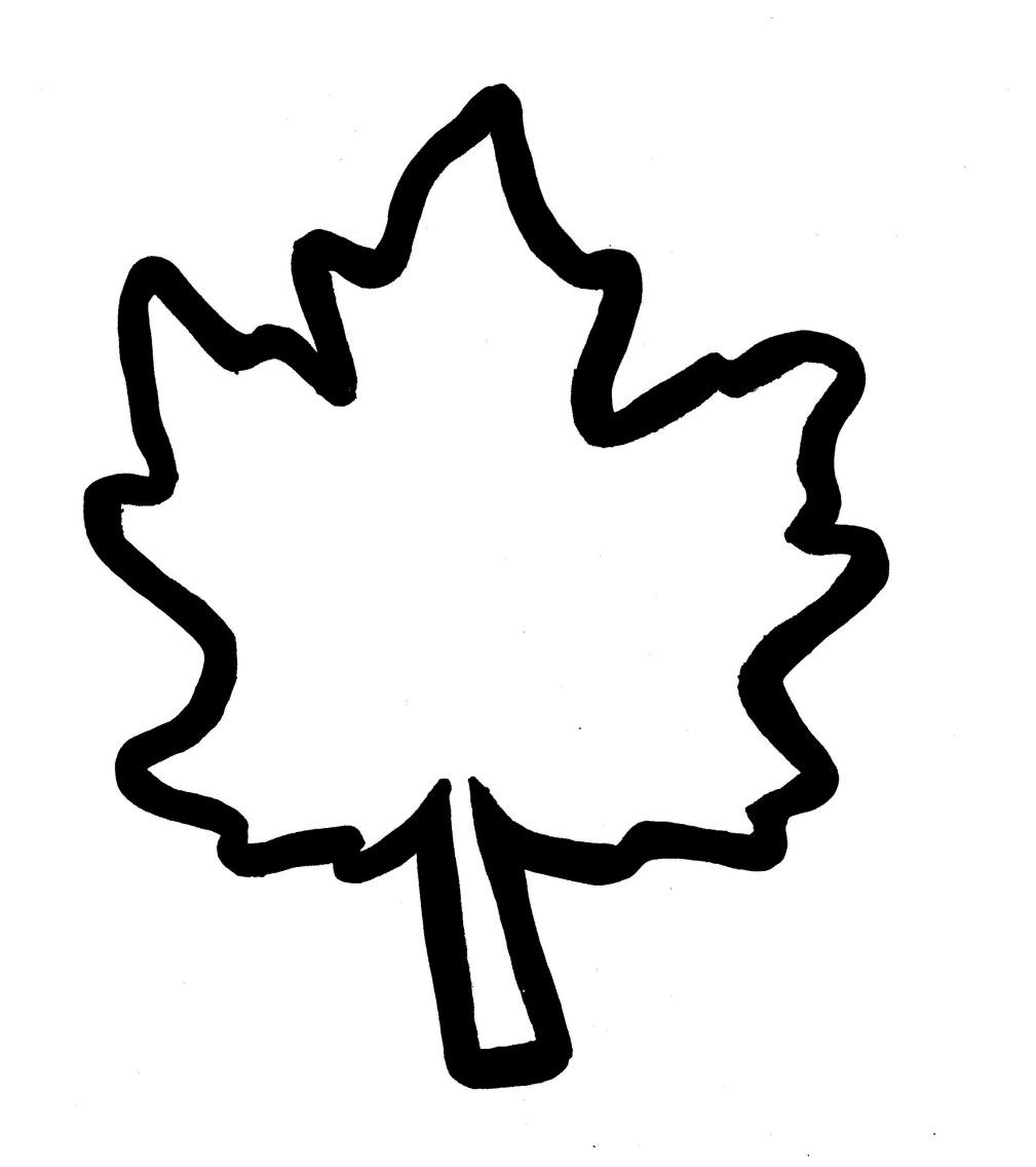 Free Autumn Leaf Template