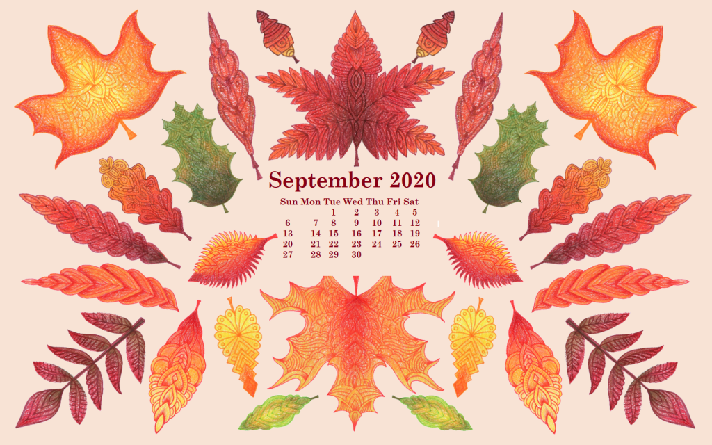 September 2020 Calendar Wallpaper